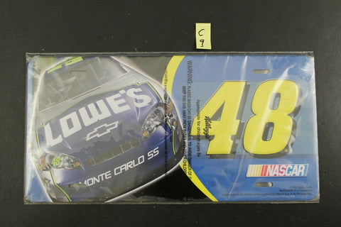 Kellogg's NASCAR Jimmie Johnson #48 License Plate Lowe's Advertising C9
