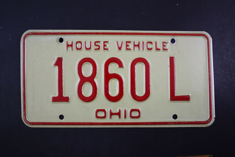 19 Vintage Original OHIO License Plate 1860-L HOUSE VEHICLE