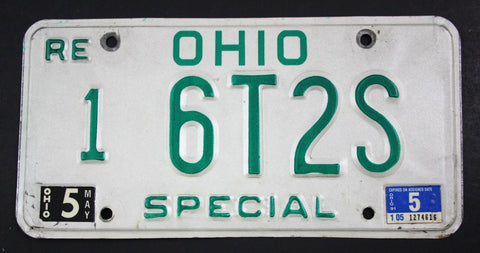 Vintage 1985 Original OHIO Replacement Special MASTER Dealer License Plate 6T2S