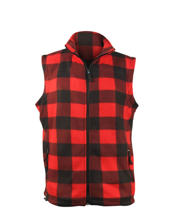 Men's Plaid Sleeveless Vest