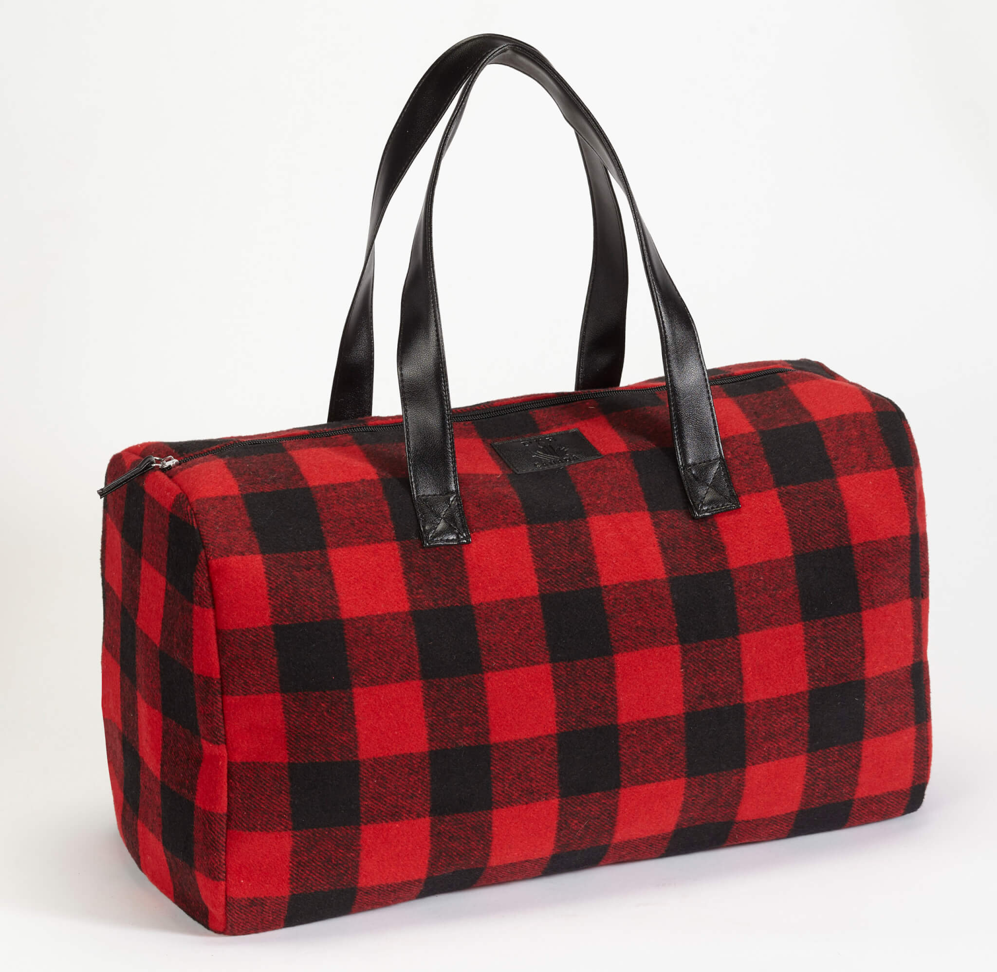 Plaid Duffle Bag with Inner Pockets