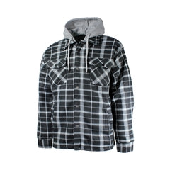 Plaid Polar Fleece Jacket Grey - Adult