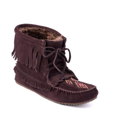 Manitobah Mukluks - Harvester Suede Lined Moccasin Dark Brown
