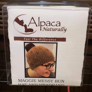 Maggie Messy Bun Hat & Headband - Kit