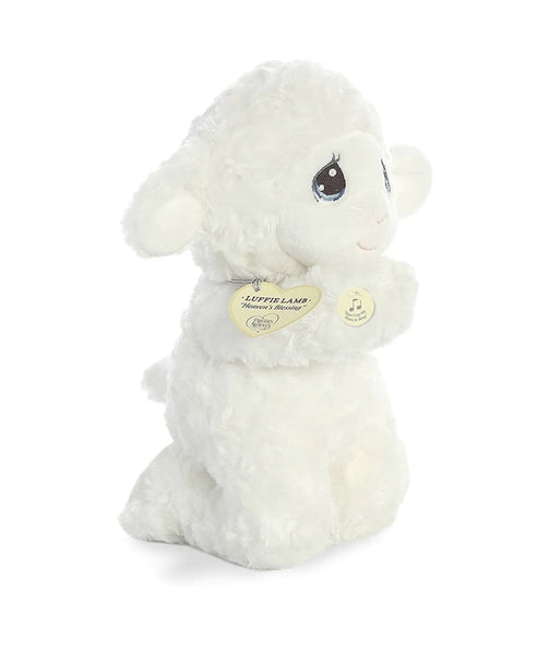 "Luffie Prayer Lamb ""Now I Lay Me Down To Sleep"" Precious Moments Plush with Sound 10"""