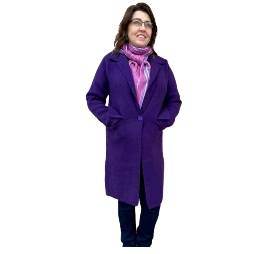 Fiona Coat - Purple