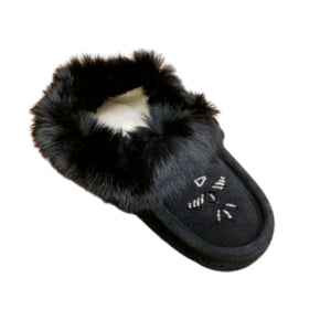 Ladies Moccasins - Black