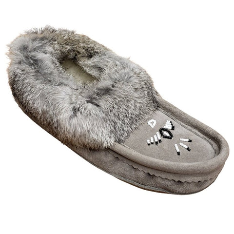 Ladies Moccasins - Grey