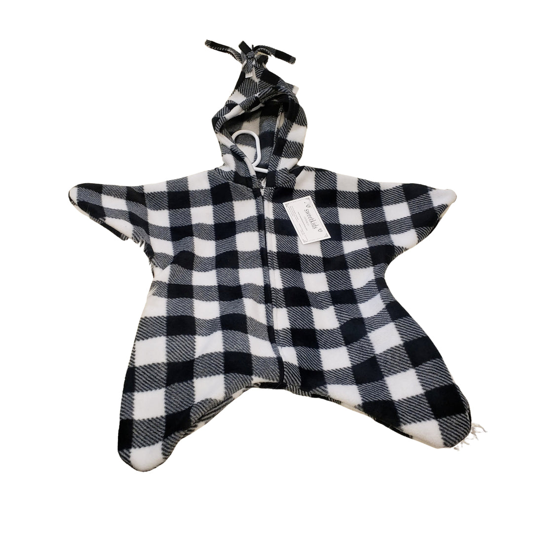 White Check Baby Bunting Bag
