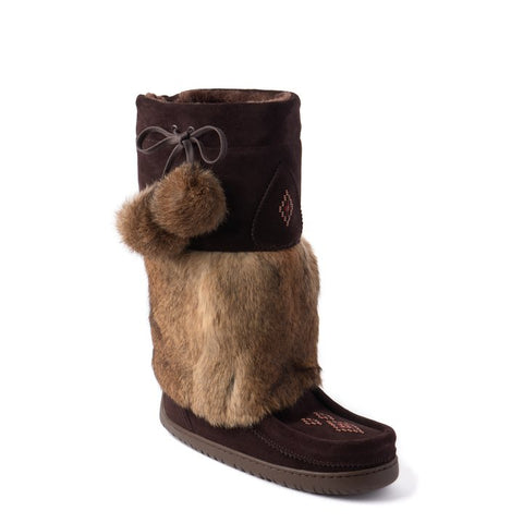 Adjustable Snowy Owl Mukluk - Dark Brown