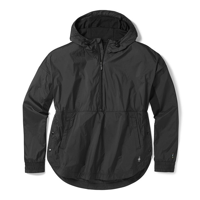 Women's Merino Sport Ultra Light Anorak Pullover - Black