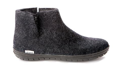 Glerups Ankle Boot Charcoal - Black Rubber