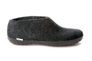 Glerups Shoe Charcoal - Black Rubber