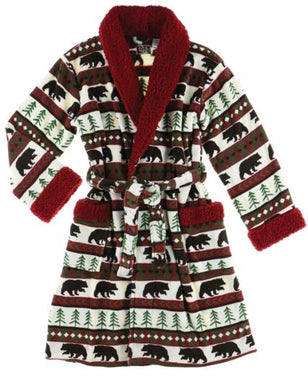 Bear Fair Isle - Adult Bathrobe