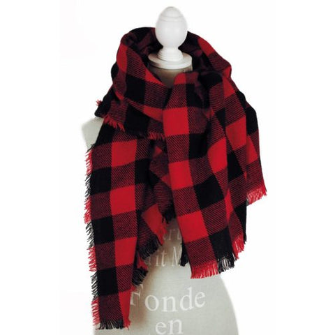 Buffalo Plaid Blanket Scarf