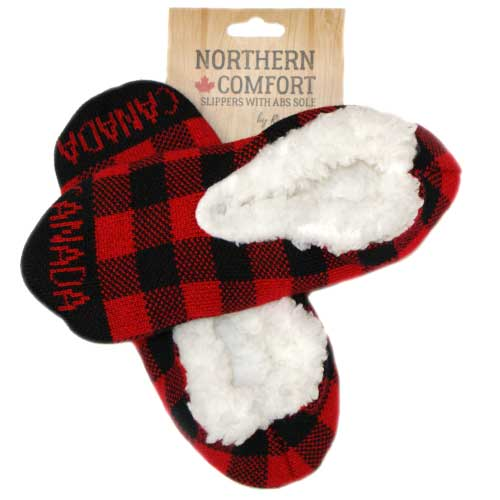 Northern Comfort Plaid Slippers
