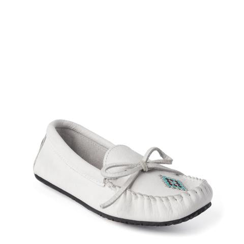 Canoe Grain Moccasin - White