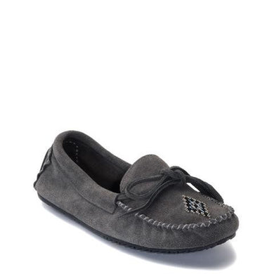Manitobah Mukluks - Canoe Suede Unlined Moccasin Charcoal