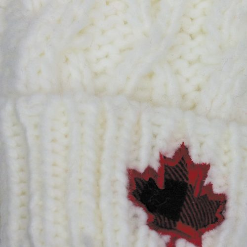 Cream Cable Knit Mitts