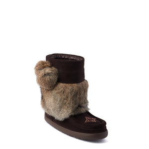 Short Snowy Owl Waterproof Mukluk - Dark Brown