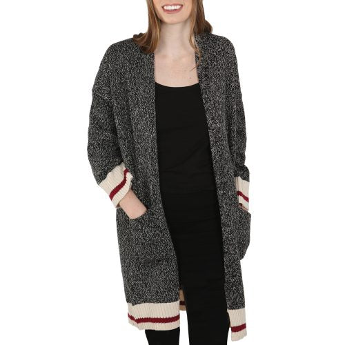 Long Cardigan - Dark Grey Mix
