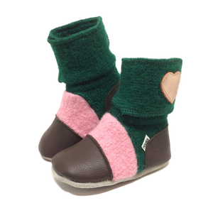 Children's Wool Booties - Aspen