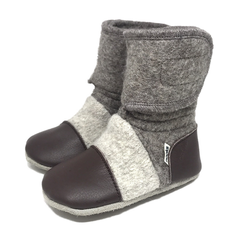 Children's Wool Booties - Coco