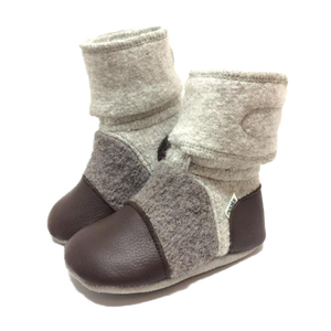 Children's Wool Booties - Driftwood