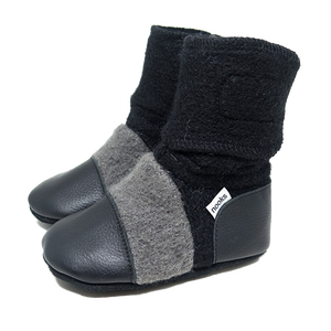 Children's Wool Booties - Eclipse