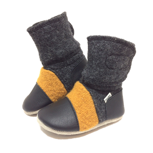 Children's Wool Booties - Harvest