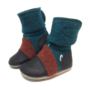 Children's Wool Booties - Mistral