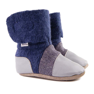 Children's Wool Booties - Deep Sea