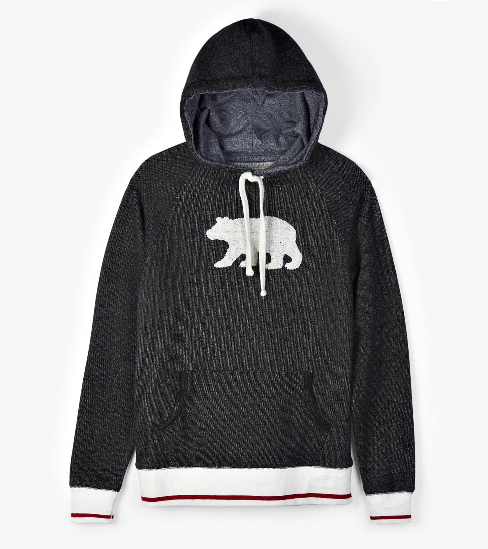Charcoal Bear Hoodie - Ladies