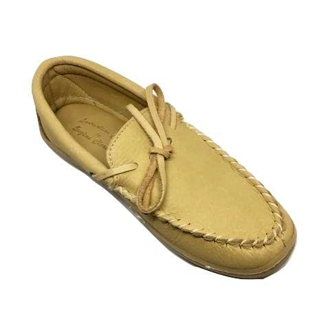 Mens Moose Hide Slippers with Hard Sole