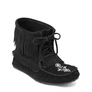 Harvester Suede Unlined Moccasin - Black