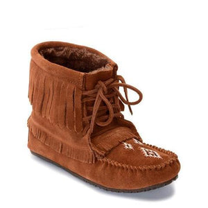 Harvester Suede Lined Moccasin - Copper