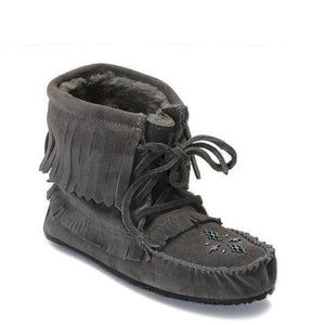 Harvester Suede Lined Moccasin - Charcoal