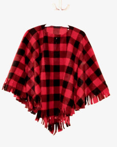 Toddler/Kids Plaid Poncho