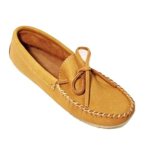 Mens Moose Hide Crepe Sole Slippers