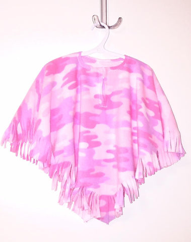 Toddler/Kids Pink Camo Poncho