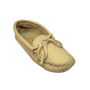 Ladies Moose Hide Slippers - Ivory