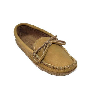 Ladies Moose Hide Slippers - Cork
