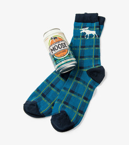 Loose Moose Men's Beer Can Socks