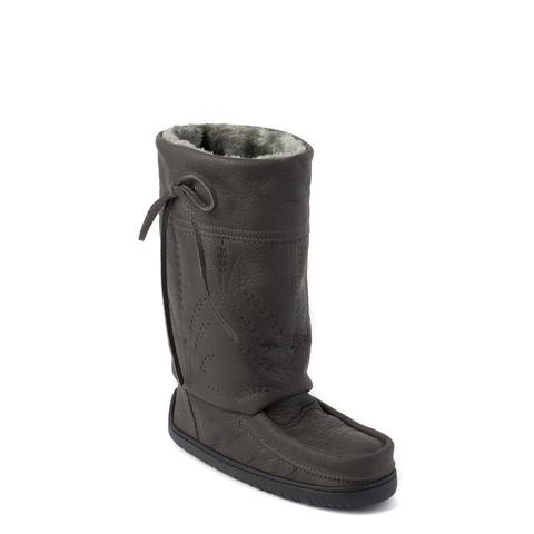 Ladies Mid Gatherer Mukluks - Pewter
