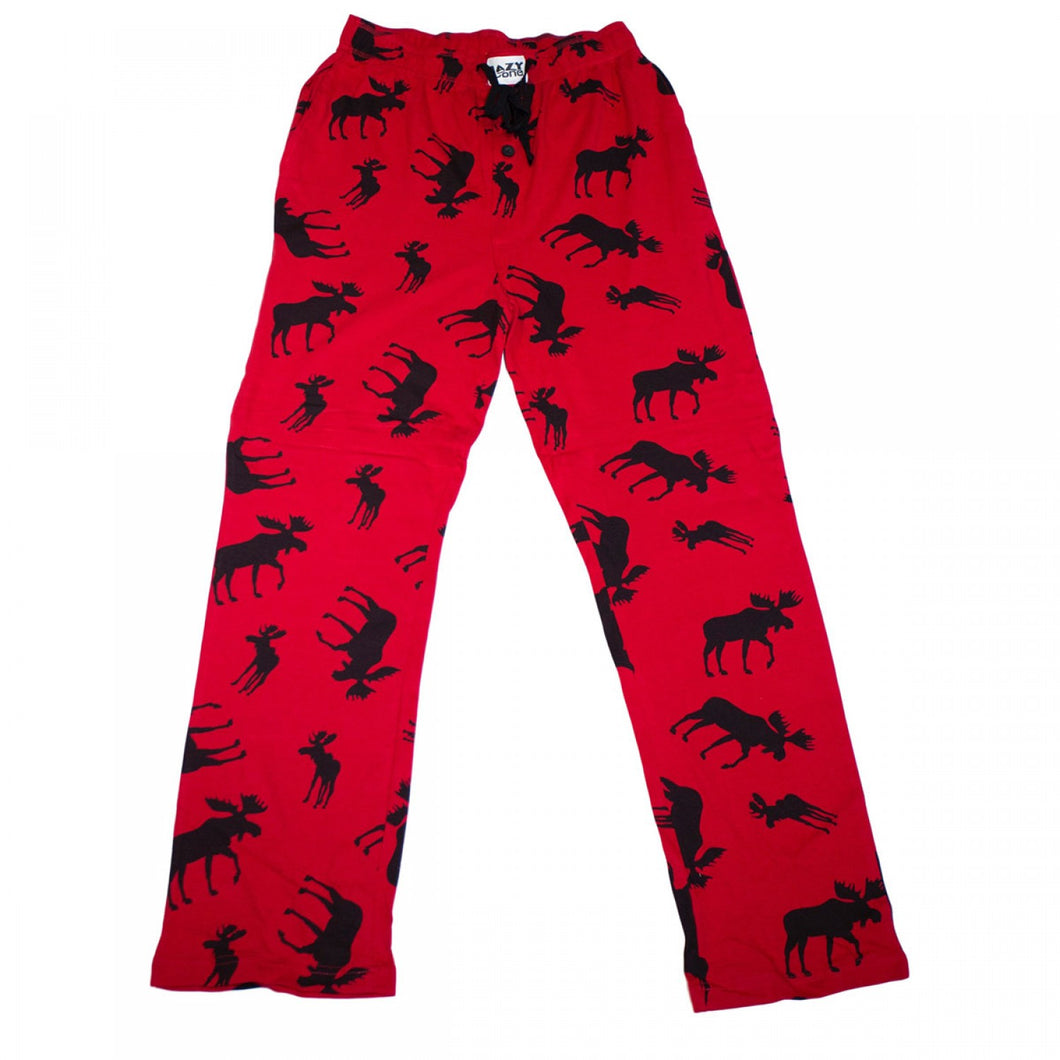 Classic Moose (Red) Unisex PJ Pants