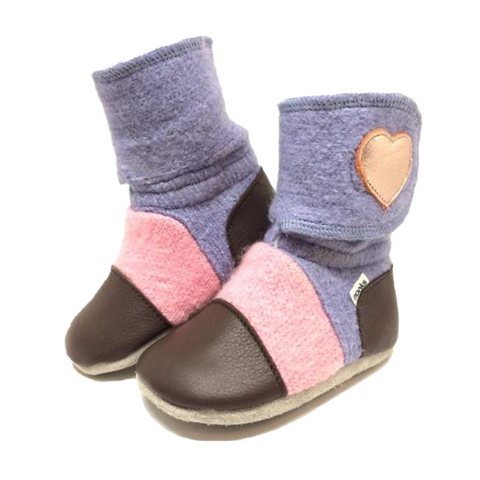 Children's Wool Booties - Nebula