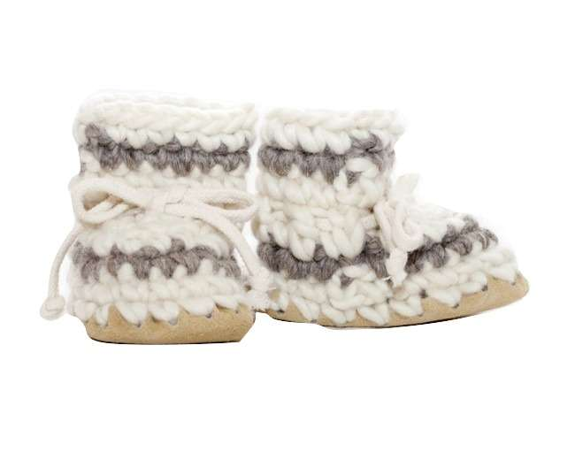 Children's Padraig Slippers - Cream
