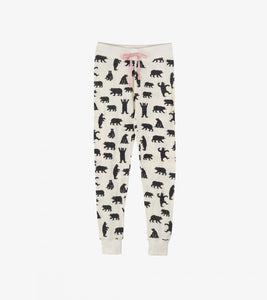 Bears on Natural - Women's Sleep Leggings