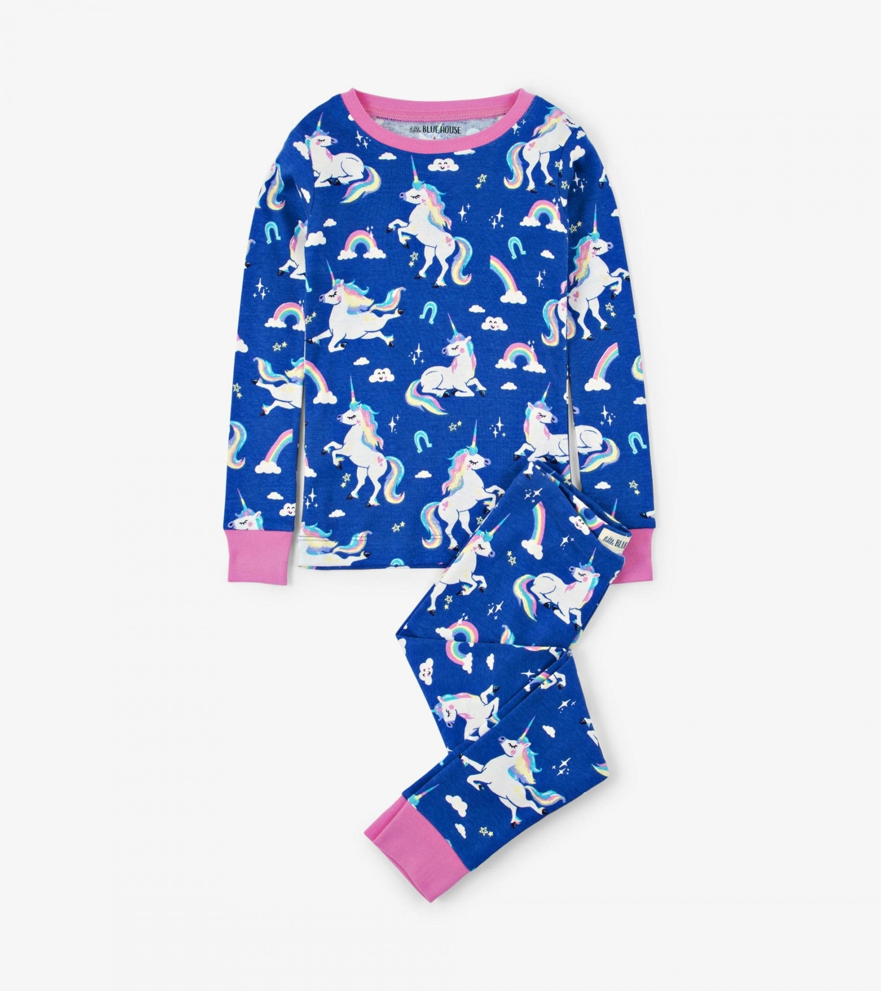 Rainbow Unicorn Kids Pajama Set