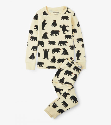 Black Bear 2 Piece PJ's - Kids